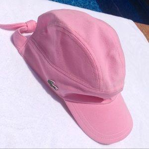 LIKE NEW Lacoste Women's Pink Pique Tie Back Cap